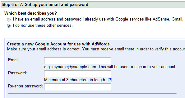 Creating your Google Account